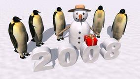 Nuovo anno felice 2008 illustrazione di stock