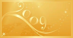 Nuovo anno felice 2009! Fotografia Stock Libera da Diritti