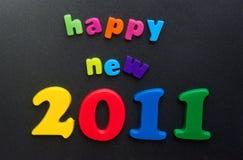 Nuovo anno felice 2011. Fotografia Stock