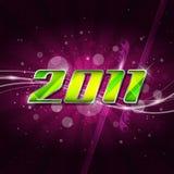 Nuovo anno felice 2011 Immagini Stock Libere da Diritti