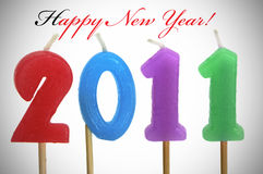 Nuovo anno felice 2011 Fotografie Stock