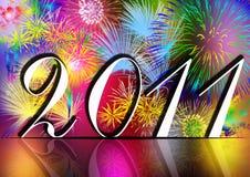 Nuovo anno felice 2011 Fotografia Stock Libera da Diritti