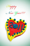 Nuovo anno felice 2011 Fotografie Stock Libere da Diritti