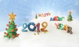 Nuovo anno felice 2012 Fotografia Stock