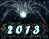 Nuovo anno felice 2013 Illustrazione di Stock