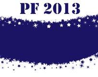 Nuovo anno felice 2013 Fotografie Stock Libere da Diritti