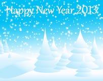 Nuovo anno felice 2013 Royalty Illustrazione gratis