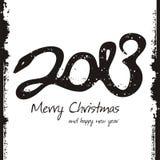 Nuovo anno felice 2013, disegno variopinto Immagini Stock Libere da Diritti