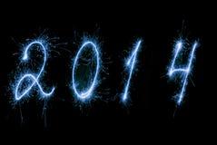Nuovo anno felice 2014. Fotografia Stock