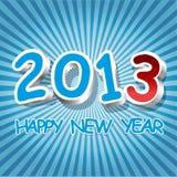 Nuovo anno felice in 3D Fotografia Stock