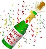 Nuovo anno felice Champagne Fotografie Stock