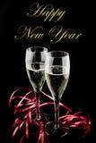 Nuovo anno felice con amore Fotografie Stock