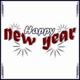 Nuovo anno felice con i fuochi d'artificio royalty illustrazione gratis