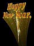 Nuovo anno felice con i fuochi d'artificio. Immagini Stock Libere da Diritti