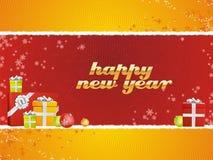 Nuovo anno felice con i regali royalty illustrazione gratis