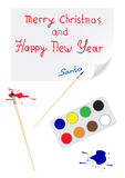 Nuovo anno felice di carta Immagine Stock