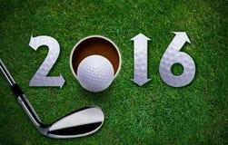 Nuovo anno felice di golf Fotografia Stock