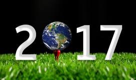 Nuovo anno felice 2017 di sport Fotografia Stock