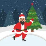 Nuovo anno felice e Buon Natale Fotografie Stock Libere da Diritti
