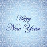 Nuovo anno felice Illustrazione di vettore di festa Priorità bassa di inverno Immagini Stock