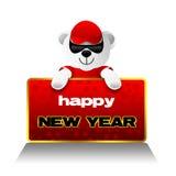 Nuovo anno felice, orso dell'orsacchiotto, feste Immagini Stock