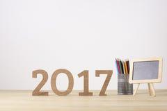 Nuovo anno felice Simbolo di sospiro dal numero 2017 Fotografia Stock