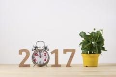 Nuovo anno felice Simbolo di sospiro dal numero 2017 Immagini Stock Libere da Diritti