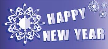 Nuovo anno felice snowflake royalty illustrazione gratis