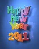 Nuovo anno felice variopinto Immagini Stock Libere da Diritti