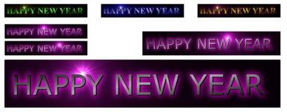 Nuovo anno felice variopinto Fotografie Stock Libere da Diritti