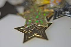 Nuovo anno, festa, luminosità, scintillio, ghirlanda, natale, festivo, candela, palla, palle, decorazione, regali, giocattoli fotografia stock