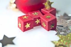 Nuovo anno, festa, luminosità, scintillio, ghirlanda, natale, festivo, candela, palla, palle, decorazione, regali, giocattoli fotografie stock