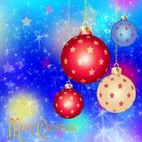 Nuovo anno   Fondo di Buon Natale Fotografie Stock Libere da Diritti