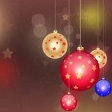Nuovo anno   Fondo di Buon Natale Immagini Stock