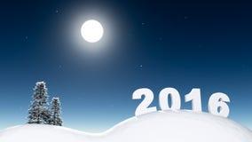 Nuovo anno in foresta Immagini Stock