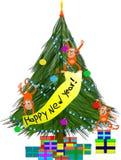 Nuovo anno funky della scimmia Immagine Stock Libera da Diritti