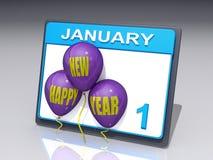 Nuovo anno il 1° gennaio Fotografia Stock Libera da Diritti