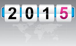 Nuovo anno 2015, invito, divertimento del mondo Fotografie Stock Libere da Diritti