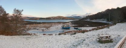 Nuovo anno, Isleornsay, isola di Skye, Scozia Immagini Stock