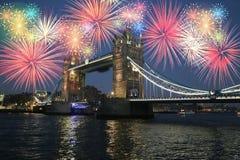 Nuovo anno a Londra Fotografie Stock