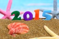 Nuovo anno multicolore 2015 Immagine Stock Libera da Diritti
