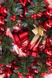 Nuovo anno, natale, decorazione, ghirlanda Fotografia Stock Libera da Diritti