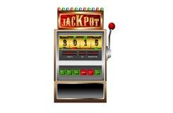 Nuovo anno 2015 nel vettore dello slot machine Immagine Stock