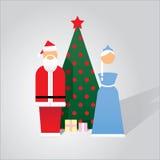 Nuovo anno nello stile Infographic Fotografie Stock