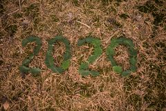 Nuovo anno 2020, numero 2020 fotografie stock libere da diritti