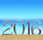 Nuovo anno numero 2016 Immagine Stock Libera da Diritti