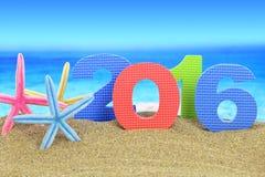 Nuovo anno numero 2016 Fotografia Stock Libera da Diritti