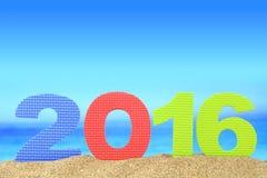 Nuovo anno numero 2016 Fotografia Stock