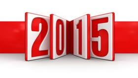 Nuovo anno 2015 (percorso di ritaglio incluso) Fotografie Stock Libere da Diritti