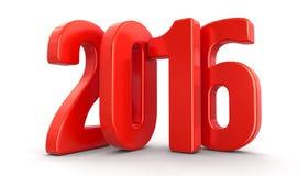 Nuovo anno 2016 (percorso di ritaglio incluso) Fotografia Stock